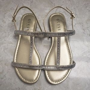 NWOT Guess Gold Sandals